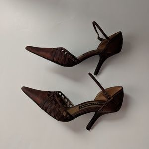 Chinese Laundry Metallic Brown Heels Size 6.5